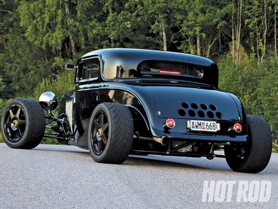 1932 Ford Coupe Rear View | Hot Rods II | Pinterest | 1932 ford ...