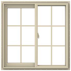 Jeld Wen V 2500 35 5 In X 35 5 In Left Operable Vinyl New Construction Almond Sliding Window Lowes Com Window Design Sliding Vinyl Windows Sliding Windows