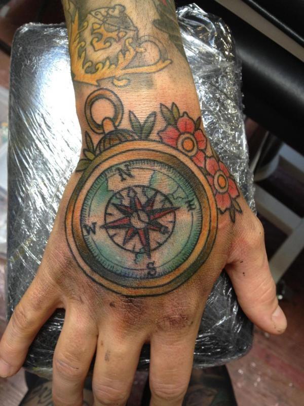 Compass Tattoo Hand 100 Awesome Compass Tattoo Designs 3 3 Compass Tattoo Hand Tattoos Compass Tattoo Design