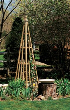Pyramid Trellis Get the DIY at Birds & Blooms Have these LOVE when