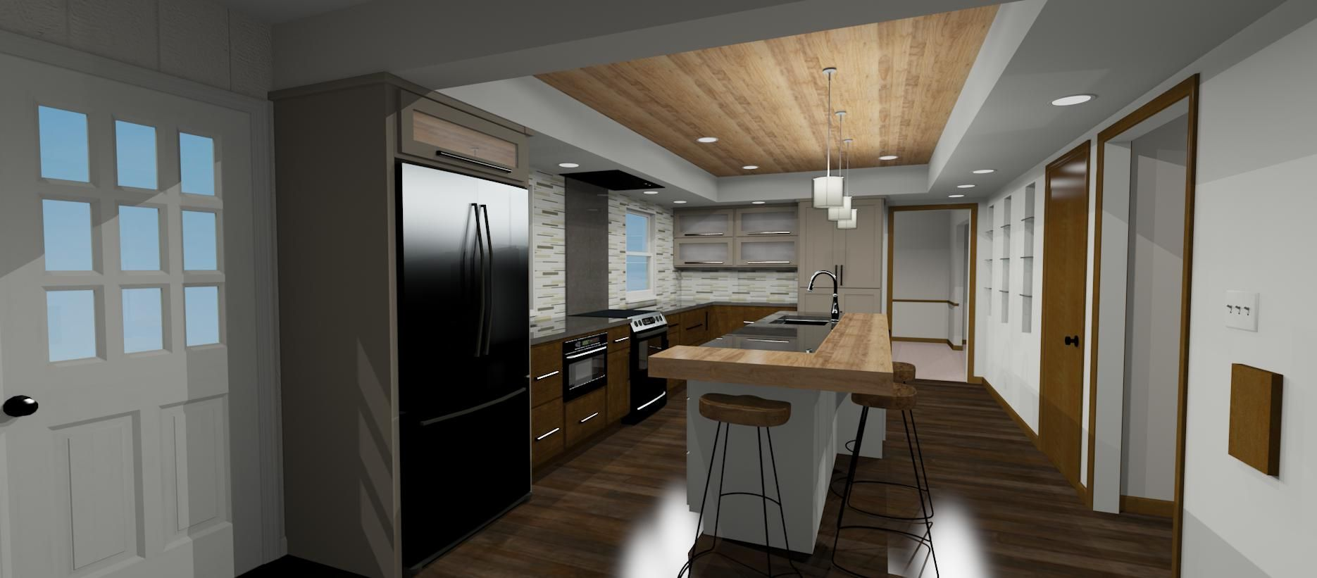 Chief Architect rendering of Worthington Ohio kitchen