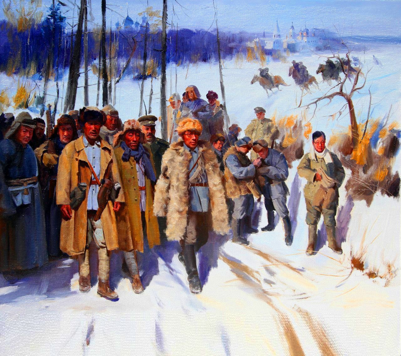 Chinese Troops On Campaign In Winter Northern China