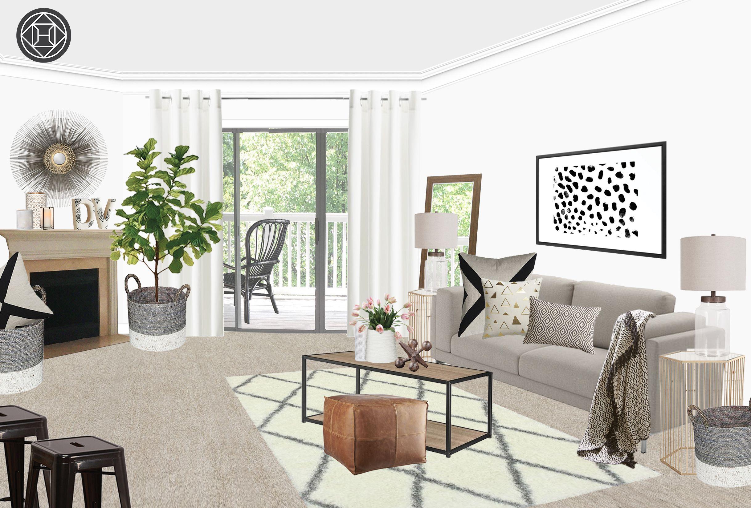 Budget Makeover: A Complete Living Room Update For Under ...