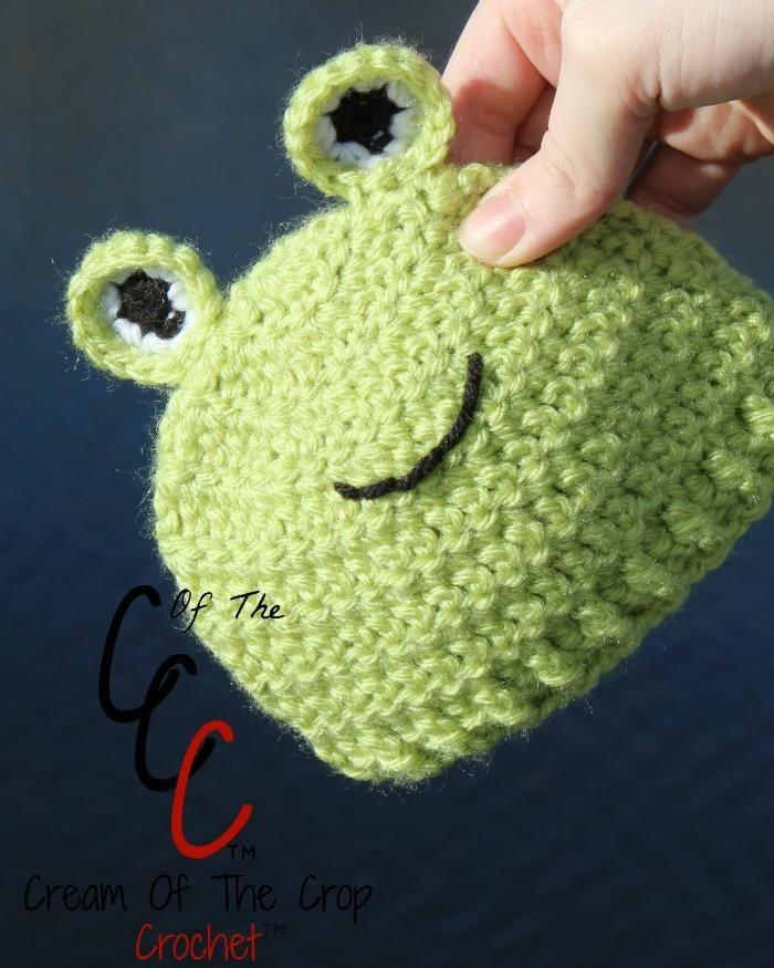 Preemie Newborn Frog Hat Crochet Pattern | Pinterest