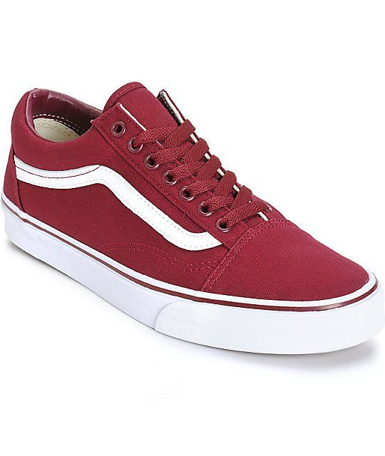 aa27b51ca8f56f Brighten your outfits with a throwback style with a Cordovan maroon canvas  upper on a white vulcanized outsole and a Vans waffle tread pattern for  tacky ...