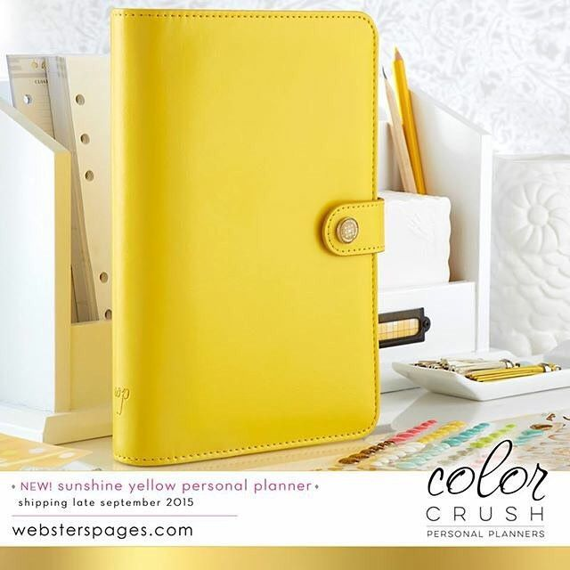 Personal Planner Kit Yellow Webster's Pages Color Crush