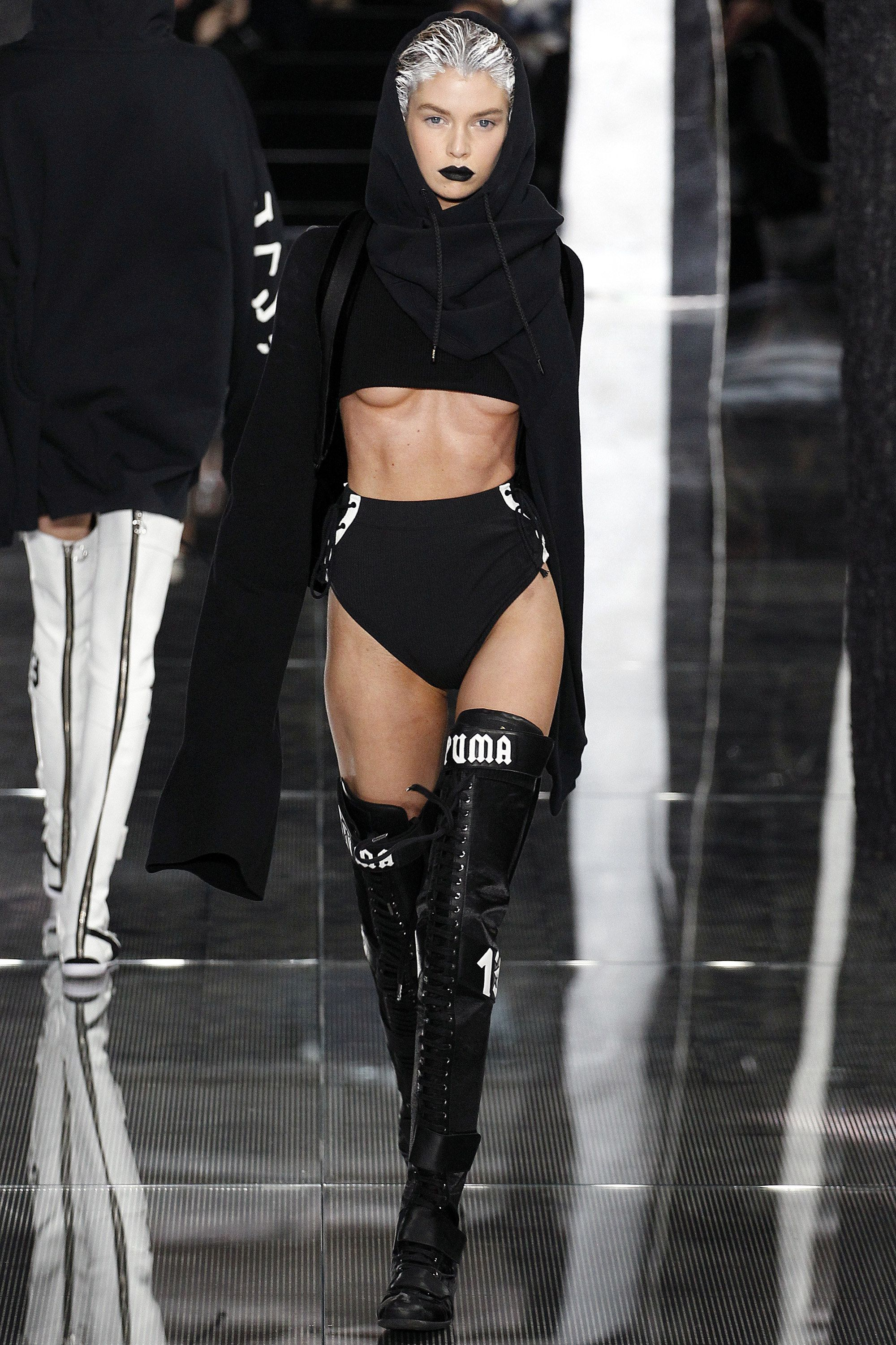 Fenty x Puma By Rihanna- Autumn   Winter 2016 - High ness boots and cropped  top 564d61ad3