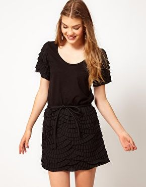 Enlarge Manoush Short Sleeve Dress With Contrast Detail