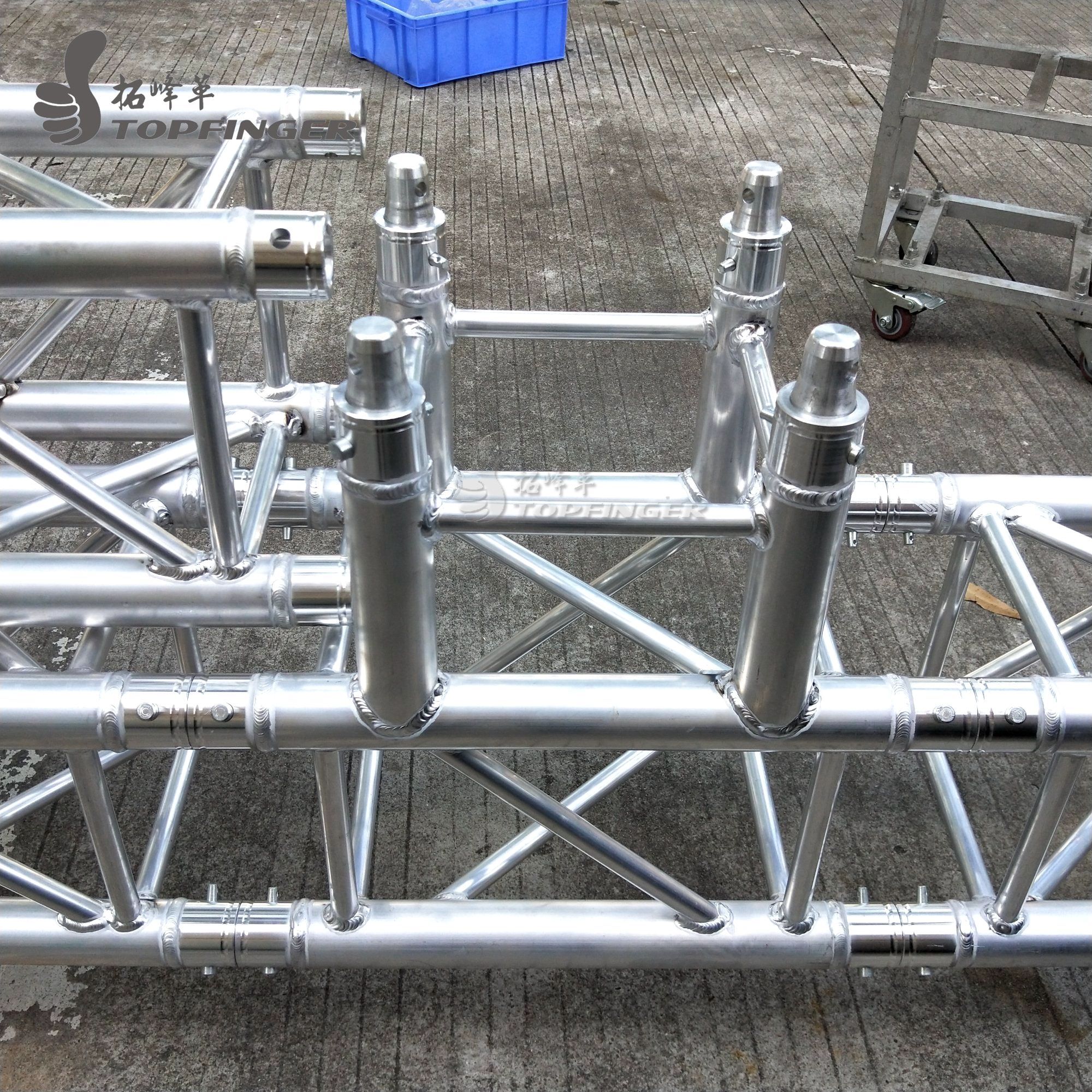Truss 0 5m(1 64ft)3-way T junction aluminium roof trusses used stage