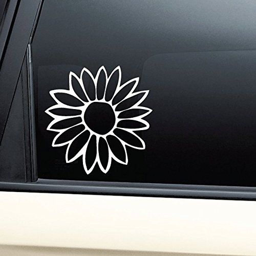 Flower Vinyl Decal Sticker White Die Cut Decal Bumper Sticker - Die cut window decals