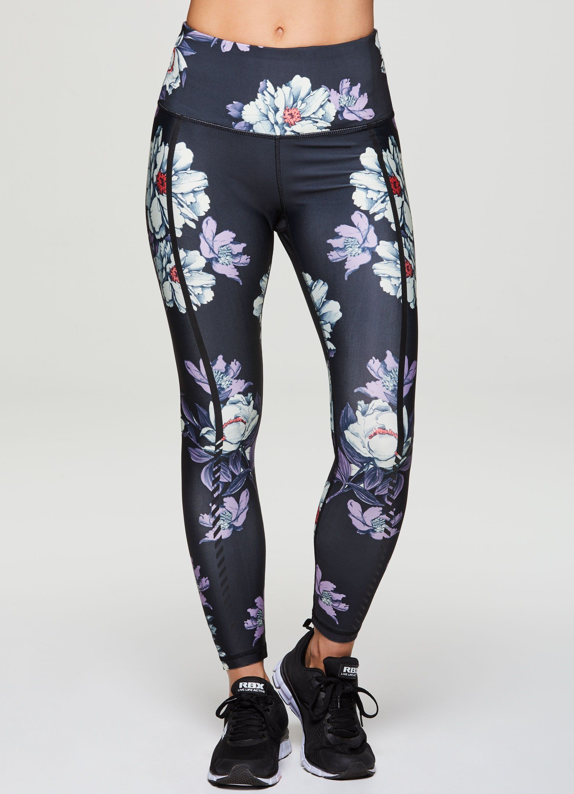 00643543c073a Energize your practice in these feel good floral print leggings. Silicon  detail down each side