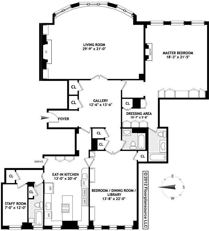 Love The Living Room Huge Flowing 1 Bedroom Midtown East Nyc Apartment Floor Plans Craftsman Floor Plans Floor Plans