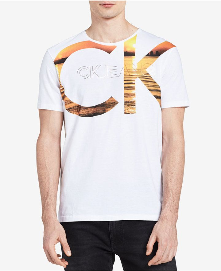 d39060fb5f4c Calvin Klein Jeans Men's CK Logo Graphic Print T-Shirt | Men's T ...