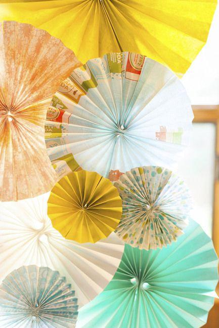 Details of DIY paper pinwheel wedding arch   Pinwheel ...