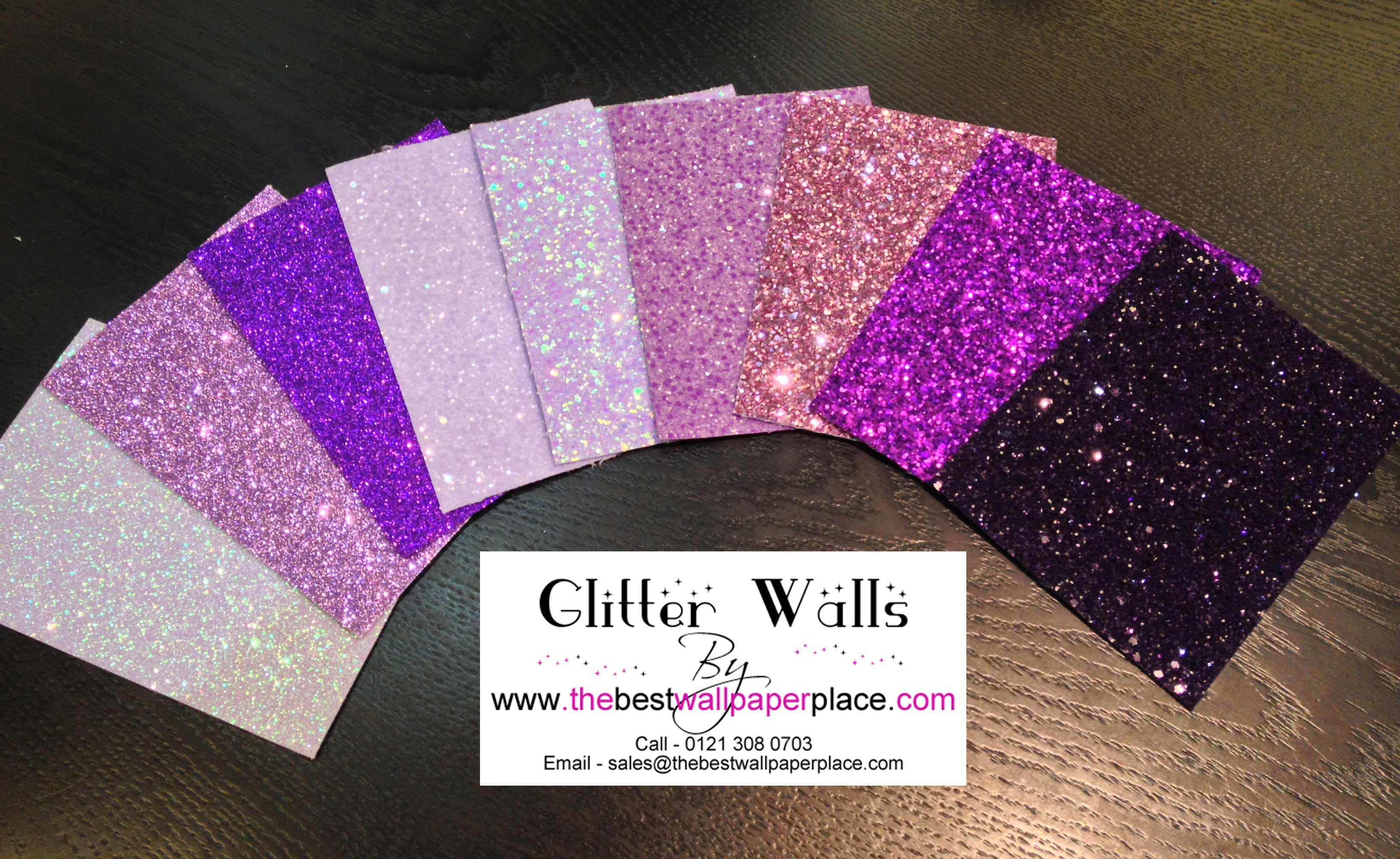 Shades of Purple #Glitterwallpaper from the best wallpaper place. There are over 40 colours in the Glitter collection and 2 fabulous styles. #GlitterWalls