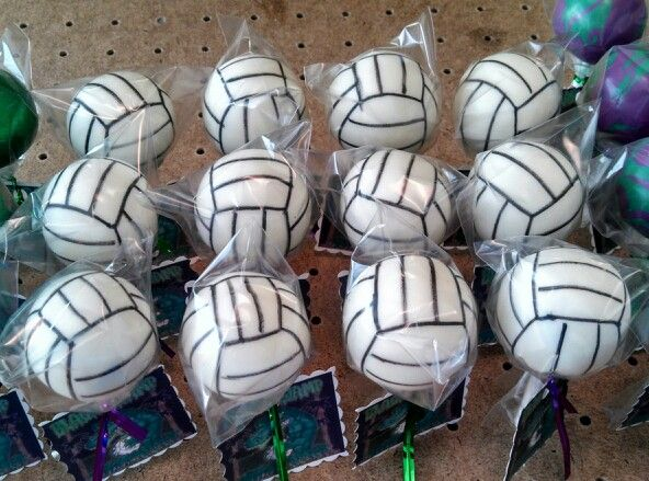 Volleyball Cake Pops Teezerts Cake Pops Volleyball