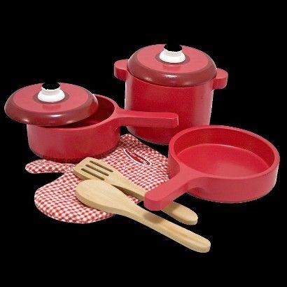 Enjoyable Melissa Doug Deluxe Wooden Kitchen Accessory Set Pots Home Remodeling Inspirations Propsscottssportslandcom