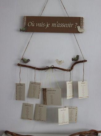 Plan De Table Decoration De Mariage Bapteme Theme Nature Et