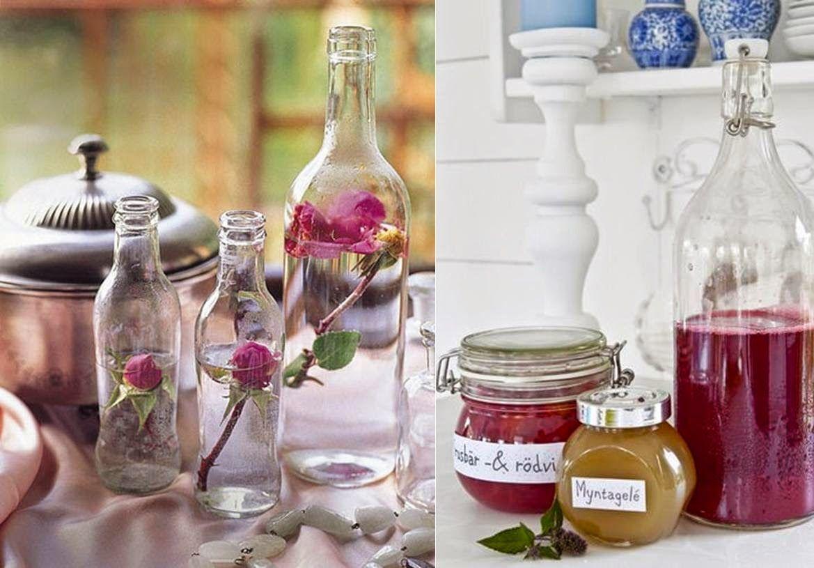 Details reutilizamos tarros y botellas de cristal para - Ideas para decorar botellas ...