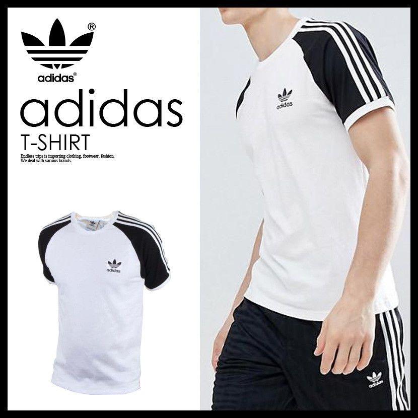 dbdc01edffd733 Adidas Originals Mens California Retro Essentials Crew Neck Short Sleeve  T-Shirt