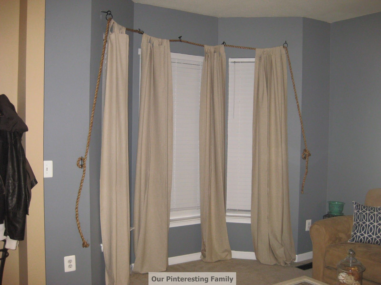 Rope Turned Nautical Theme Curtain Rod By Chris Amy Curtains