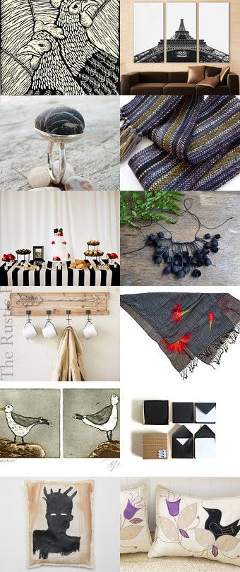 almost black and white by Mariann Johansen-Ellis on Etsy--Pinned+with+TreasuryPin.com