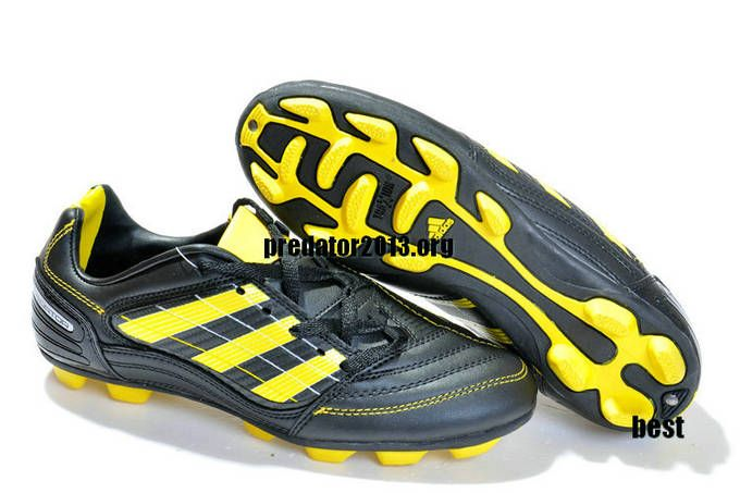 Adidas Predator X TRX AG Football Shoes Black Yellow Beckham Soccer Shoes 3341d60c1f