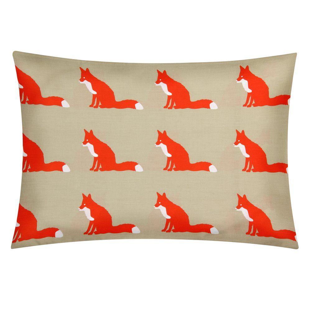 pillow fox case designs carousel large brave navy