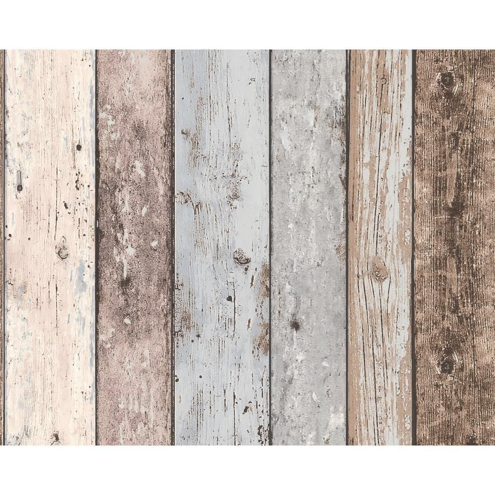 New As Creation Painted Wood Beam Wooden Panel Faux Effect Textured Wallpaper Treverksideer Tapet Drivved