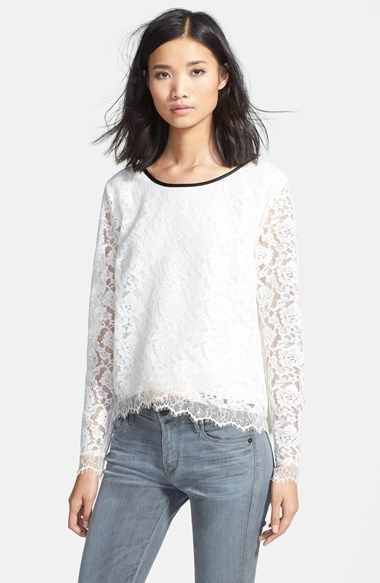 c8e329ccf3301 Ella Moss  Annalisa  Lace Top available at  Nordstrom