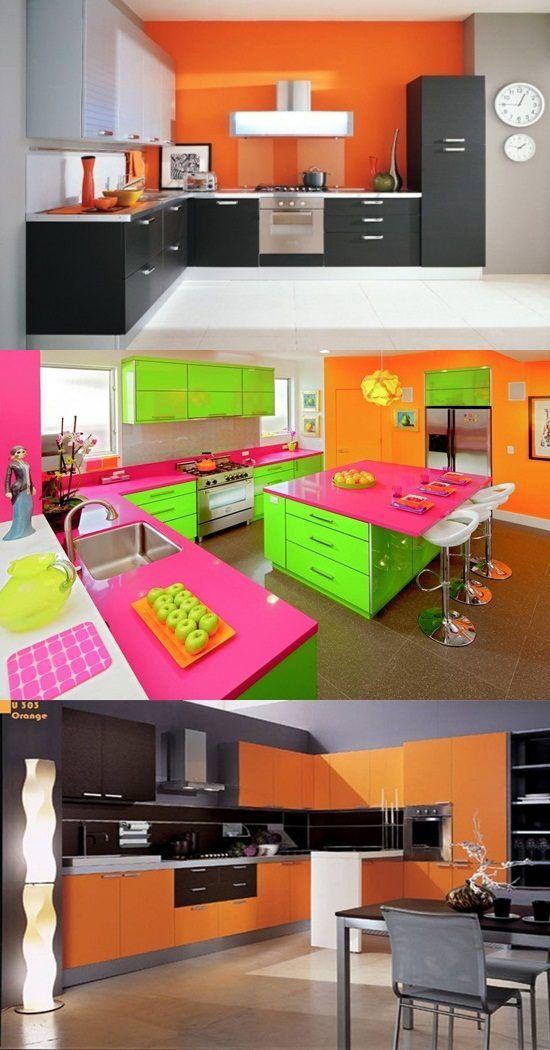 Vibrant Orange Kitchen Decorating Ideas Kitchen Decor Photos