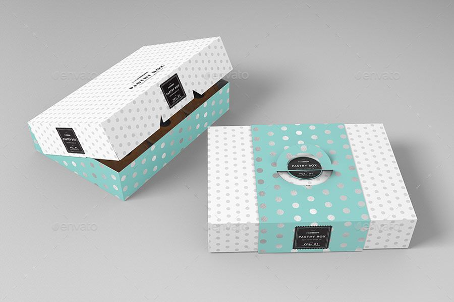 Download Food Pastry Boxes Vol 1 Cake Donut Pastry Packaging Mockups Ad Cake Sponsored Vol Packaging Donut Food Desain Kemasan Kemasan Desain
