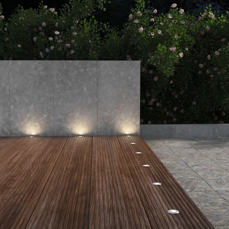 IP65 40mm je 14lm LED Boden-Einbauleuchte Atria für außen Aluminium warm-weiß