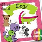 Dog Clipart.  4 Different cute dogs are included in this bundle, 2 of them are available in individual sets and the other 2 are very special and on...