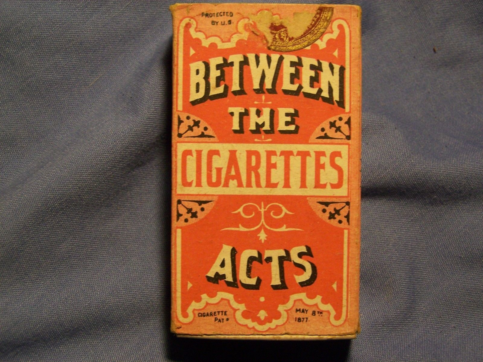 VINTAGE ORIGINAL 1883 BETWEEN THE ACTS CIGARETTE BOX VERY NICE COMPLETE BOX | eBay