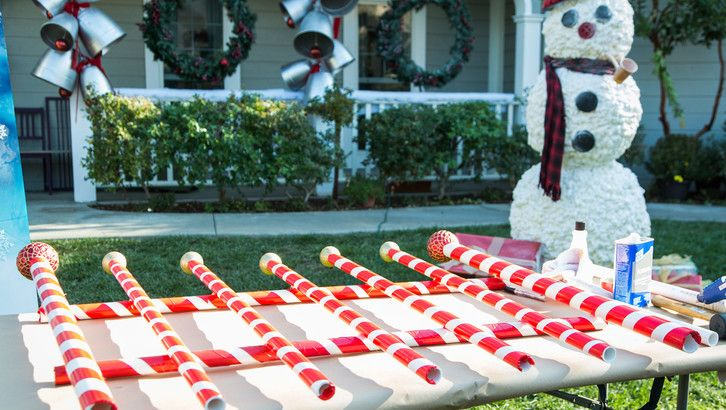Candy Cane Outdoor Christmas Decorations Diy Giant Candy Cane Picket Fence  Holidays  Christmas
