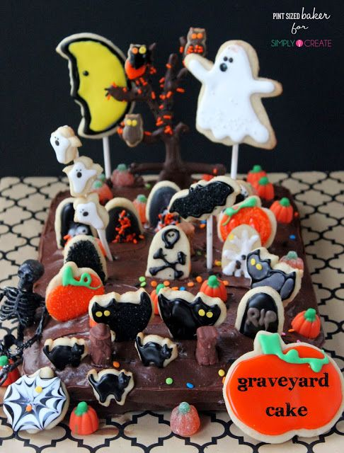 Pint Sized Baker Simply Create Halloween Graveyard Cake Crazy for - halloween cake decorations