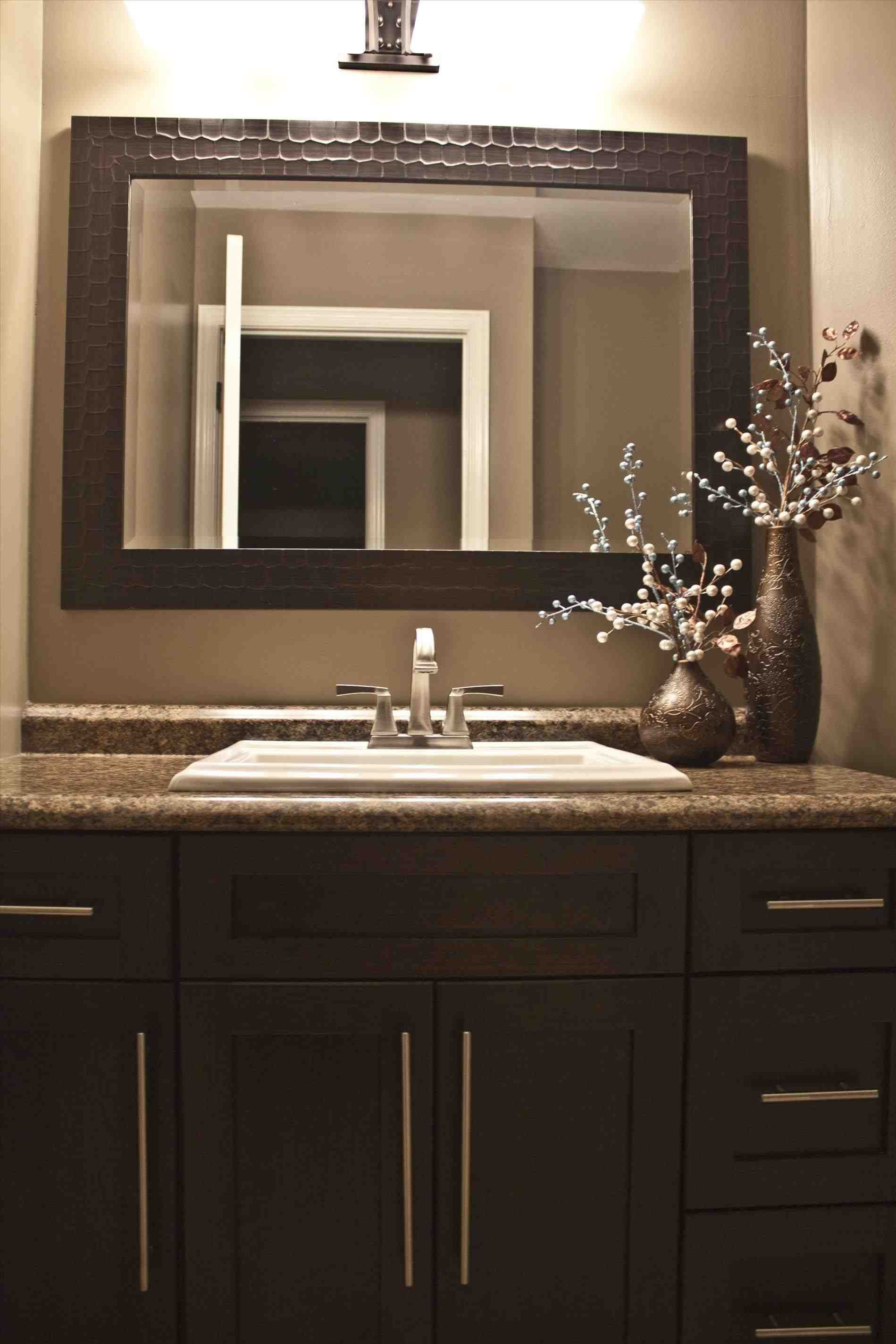 This Brown Painted Bathroom Cabinets Kitchen Kitchen Colors With Dark Brown Cabinets Flatware Utensi Dark Brown Bathroom Brown Bathroom Dark Brown Cabinets