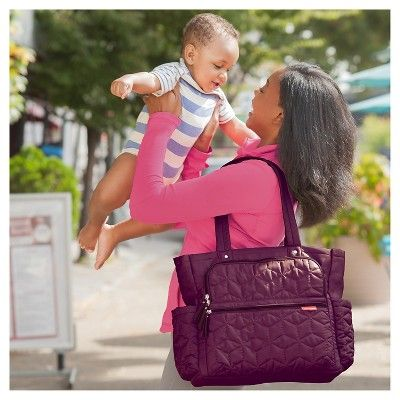 9556b69c6f80 Skip Hop Forma Pack and Go Diaper Bag Tote, Berry, Purple | Products ...