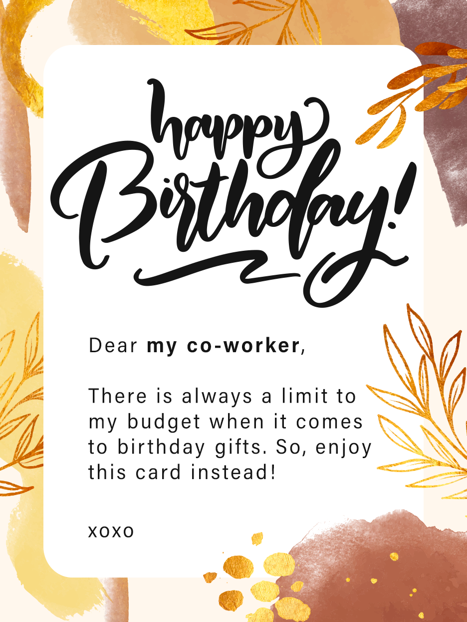 Budget Birthday Birthday Cards For Co Workers Birthday Greeting Cards By Davia Budget Birthday Birthday Greeting Cards Birthday Cards