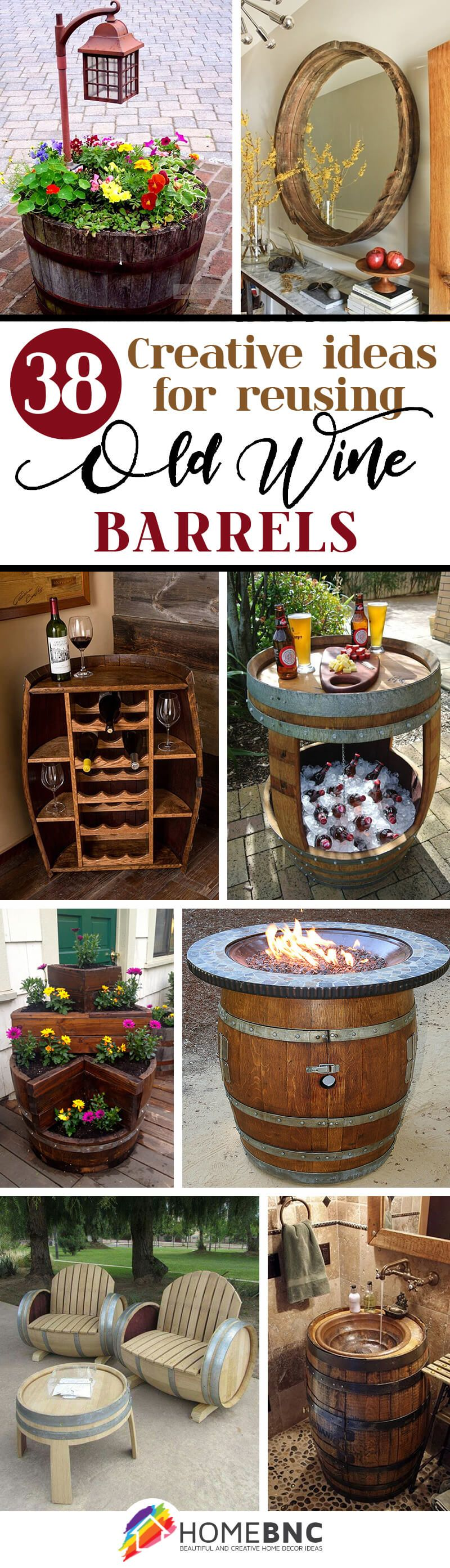 38 Creative Ideas For Reusing Old Wine Barrels