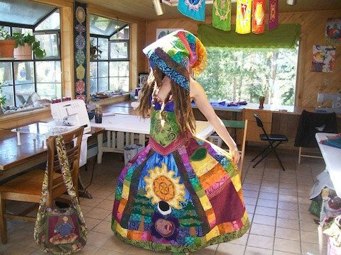 6ac3483ba24 sci rainbow dress. She makes really great clothes!