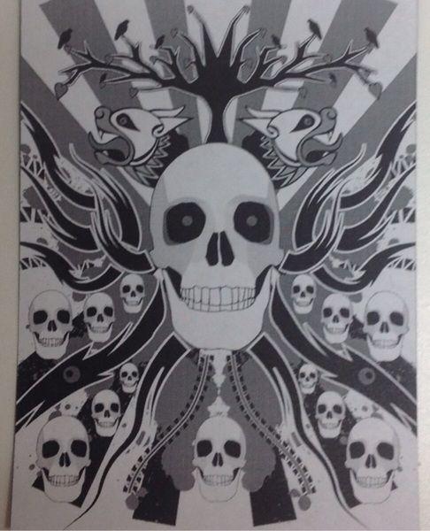 Skull Medley ART MAGNET