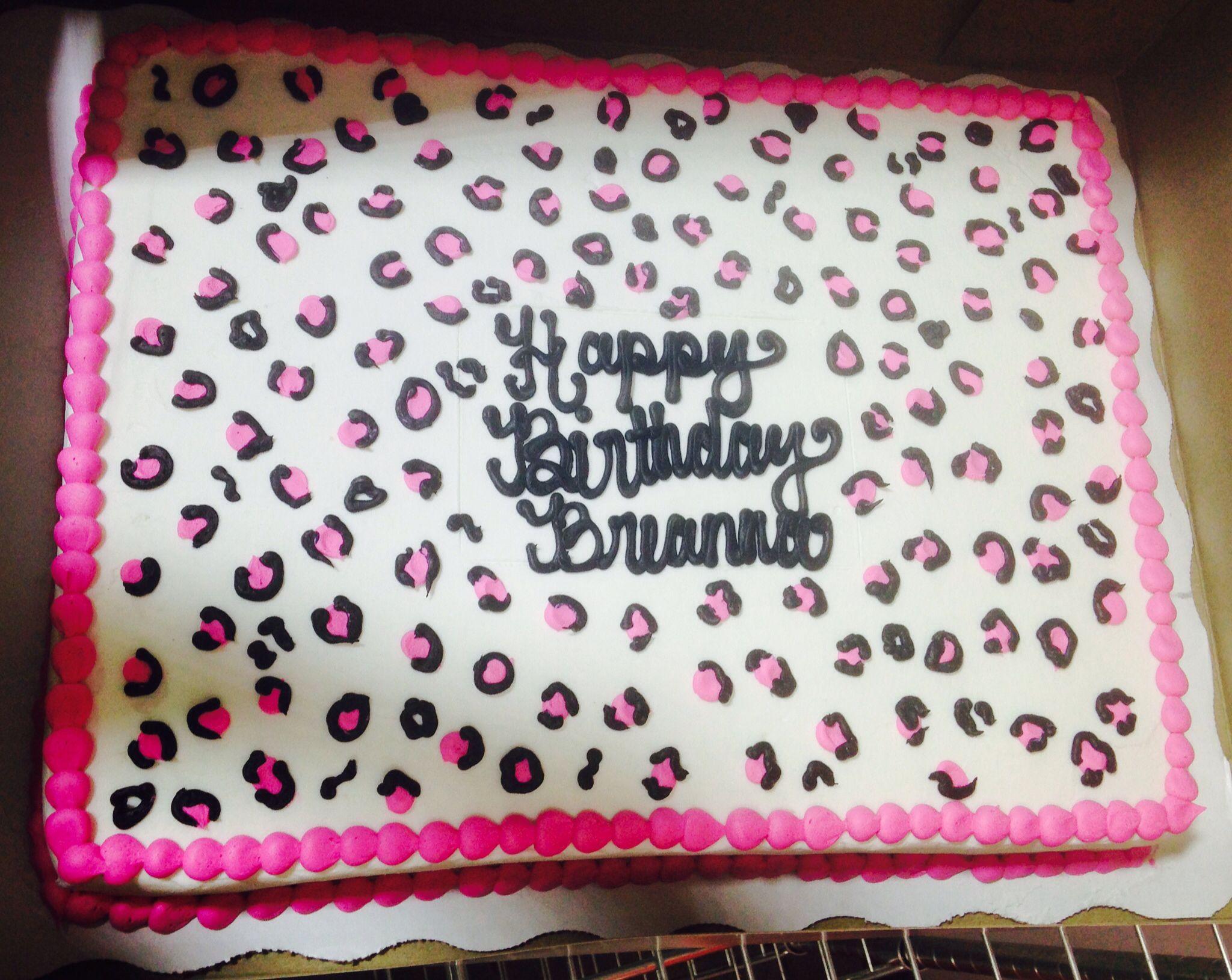 Cheetah print Cheetah cake Buttercream cake Walmart cake