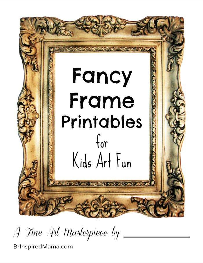 Fancy Picture Frame Drawing Printables For Your Own Kids Art Gallery Kids Art Galleries Art For Kids Kids Art Projects