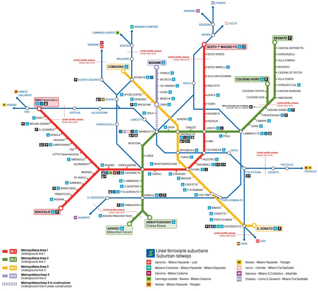 Milan Subway Map.A Simple Guide To Milan Public Transport Milan Milan Subway Map