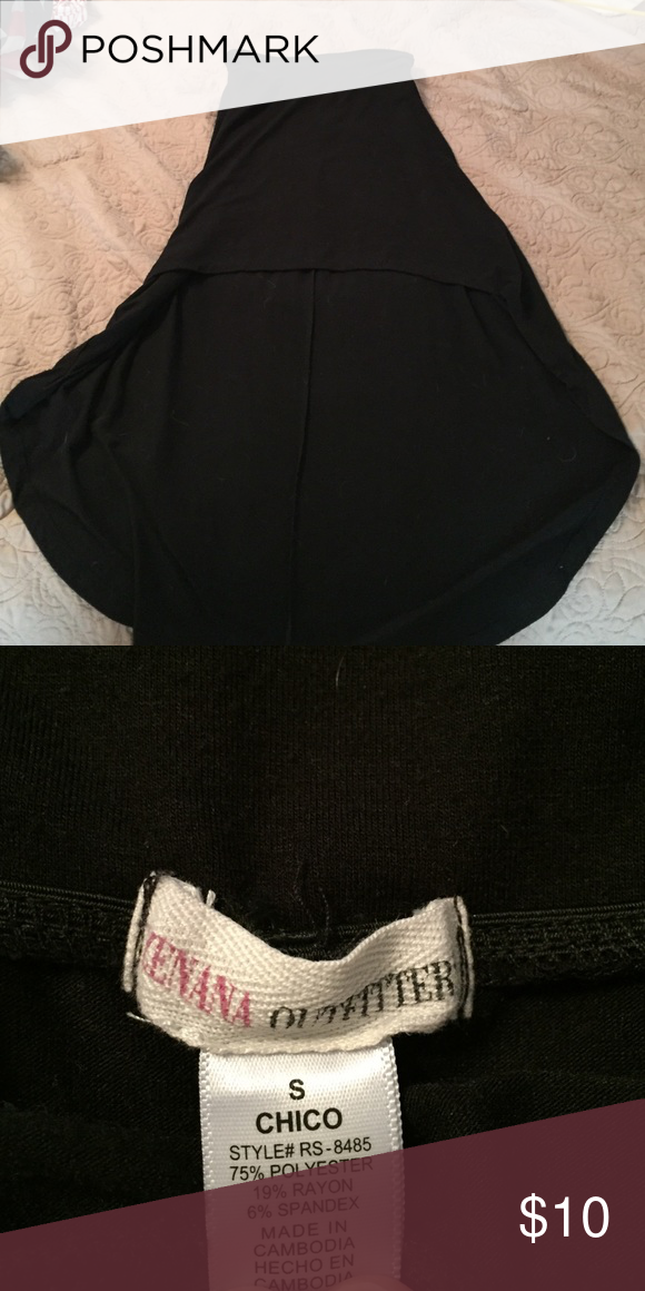 High low black skirt Gently worn high low black skirt Zenana Outfitters Skirts High Low