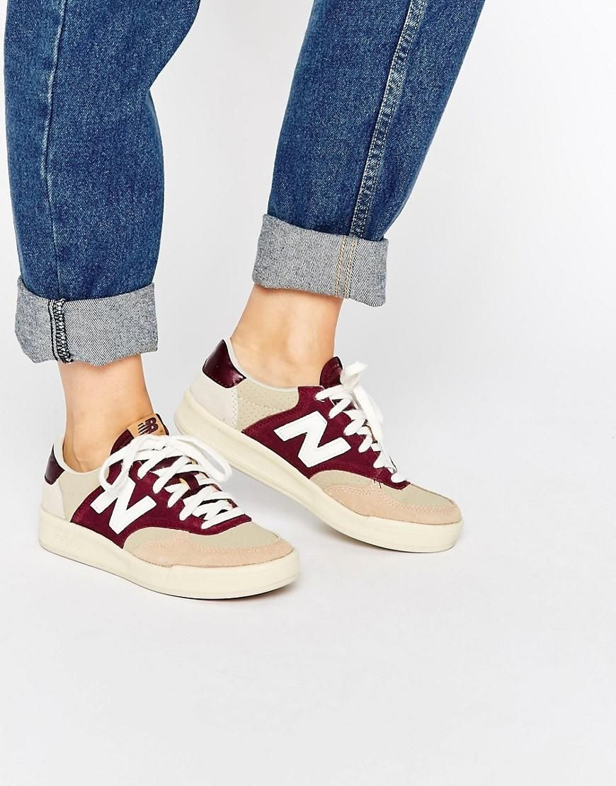 info for 36070 0dace New Balance   New Balance Court 300 Sneakers In Burgundy   Nude at ASOS