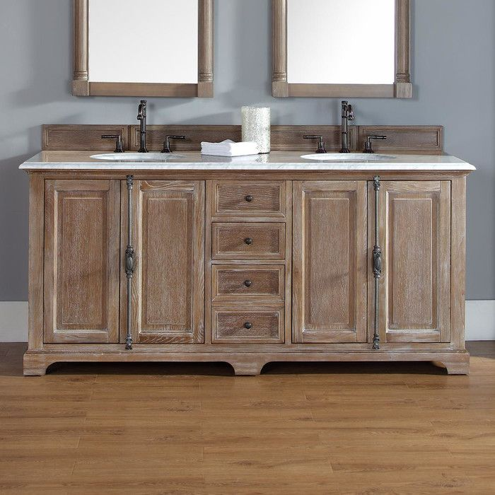 james martin furniture providence 72 double driftwood bathroom rh pinterest ch Farmhouse-Style Bathrooms Farmhouse Bathroom Vanity