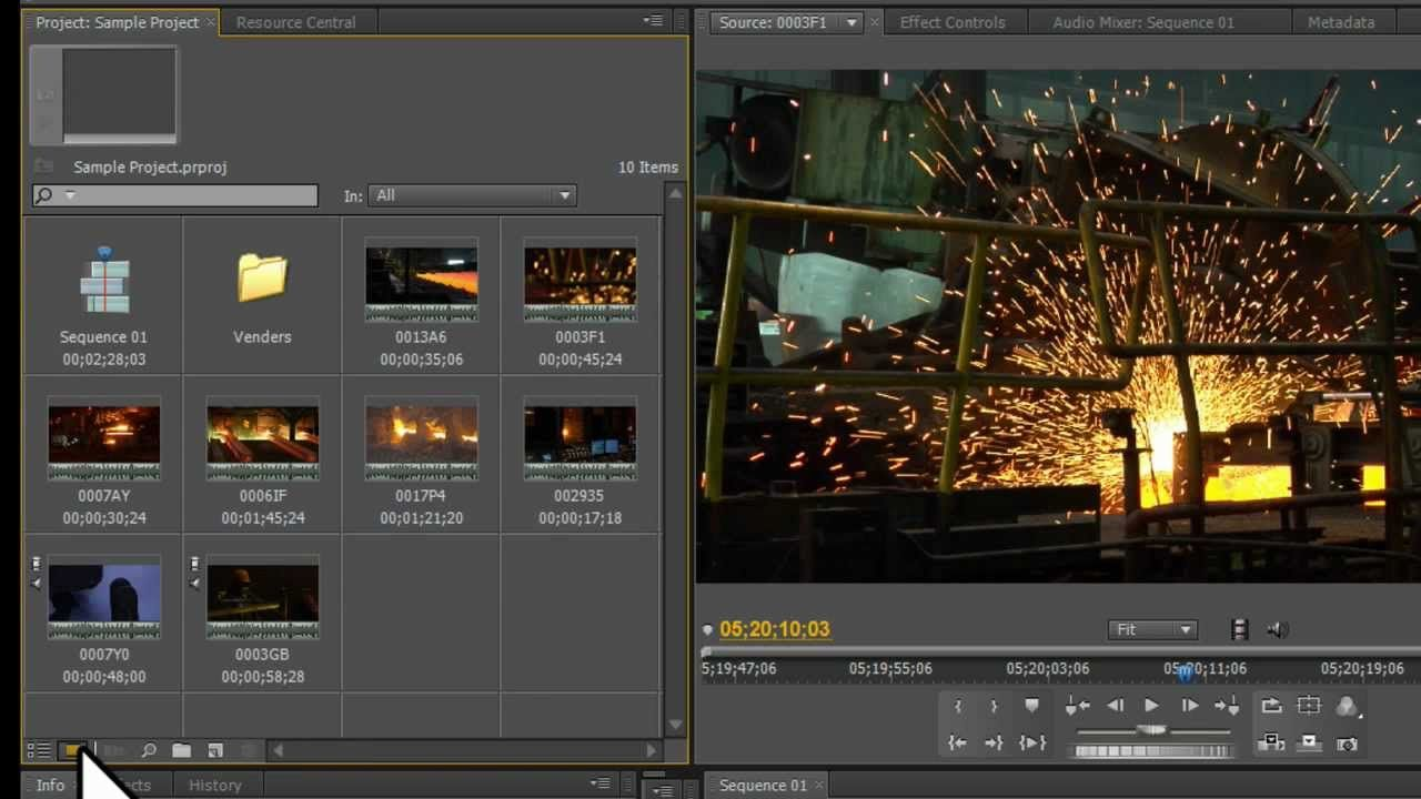 Adobe Premiere Pro Tutorial Used Clips Bins And Quick Sequences